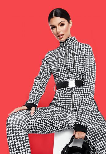 Houndstooth snow suit