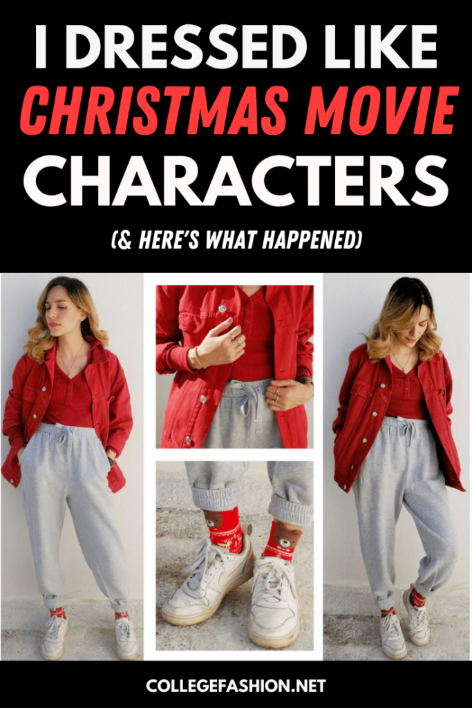 Christmas movie outfits: I dressed like Christmas movie characters every day for a week and here's what happened