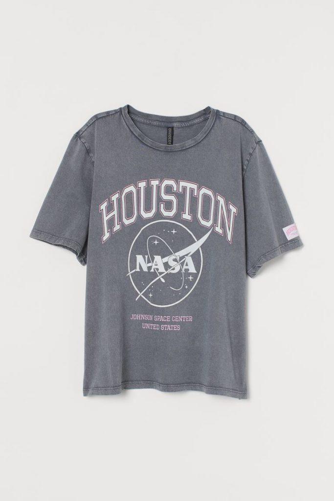 H&M printed NASA tee