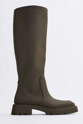 Zara Rubberized Boots
