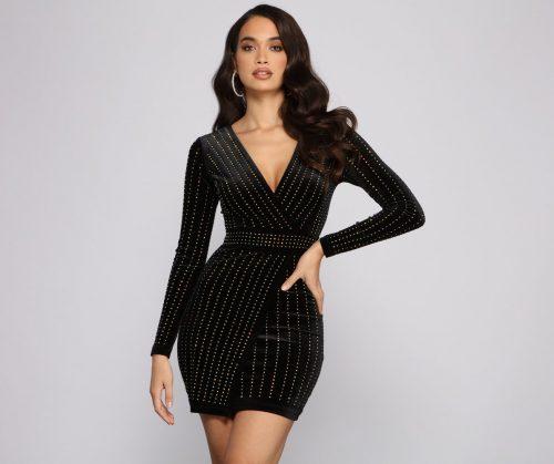 New Year's Eve fashion: Windsor Heat Stone Velvet Mini Dress