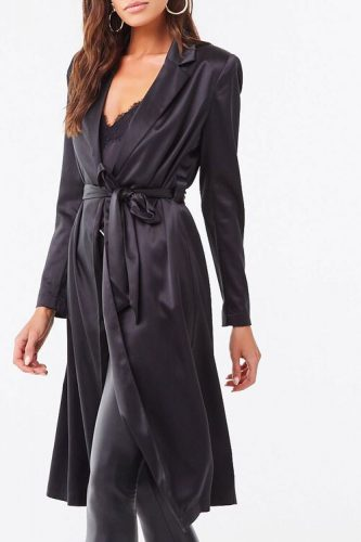 New Years Eve fashion: Forever 21 Satin Duster Jacket