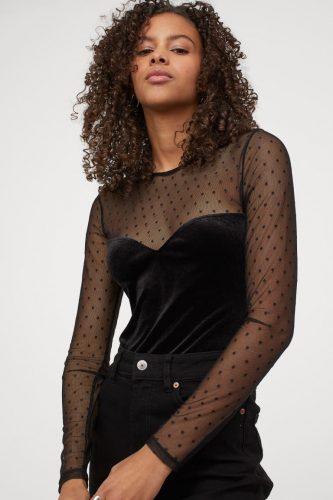H&M Velour Bodysuit