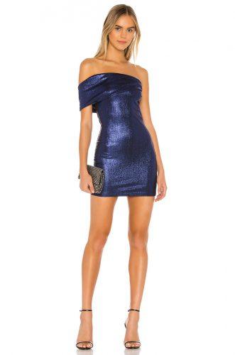 Revolve Superdown Tamia Asymmetrical Mini Dress