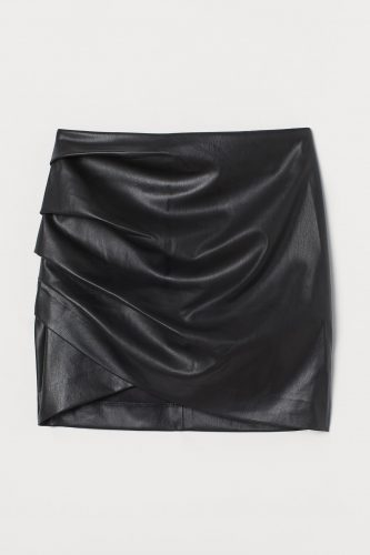 New years eve fashion: H&M Draped Faux Leather Mini Skirt