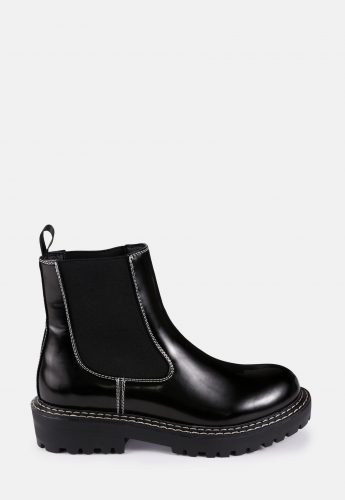 Missguided Sole Stitch Chelsea Boots