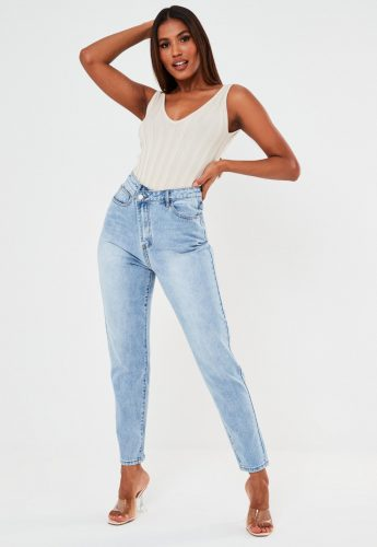 Missguided Asymmetric Fasten Jeans