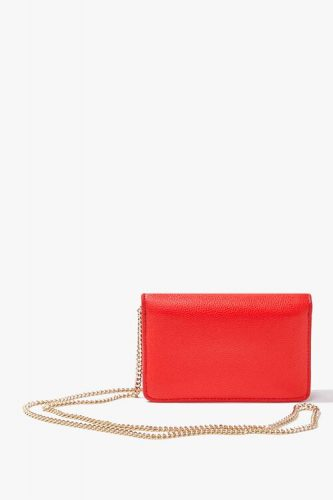 Timeless bag: bright red crossbody bag with gold chain strap from Forever 21