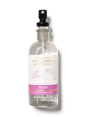 Rose lavender pillow and body mist from Bath & Body Works