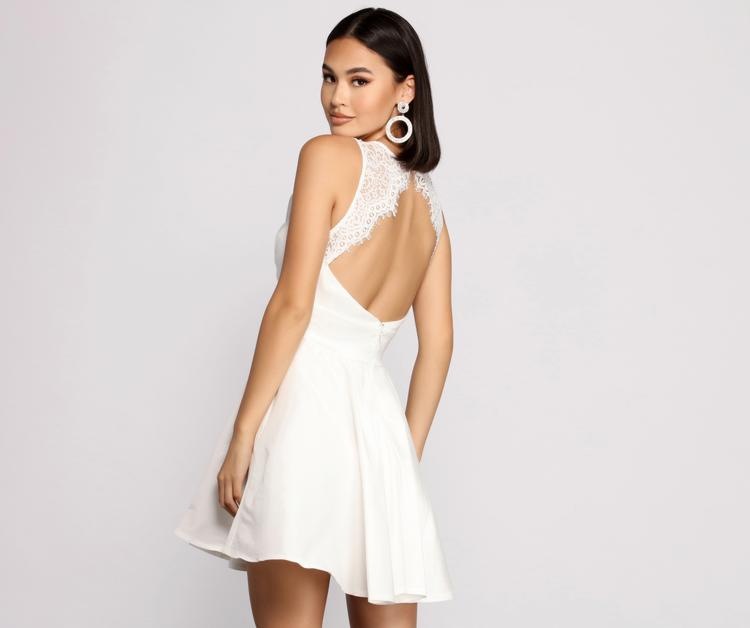 Lace back dress from Windsor