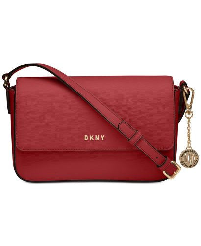 Timeless bag: deep red DKNY crossbody bag with gold details from Macy's
