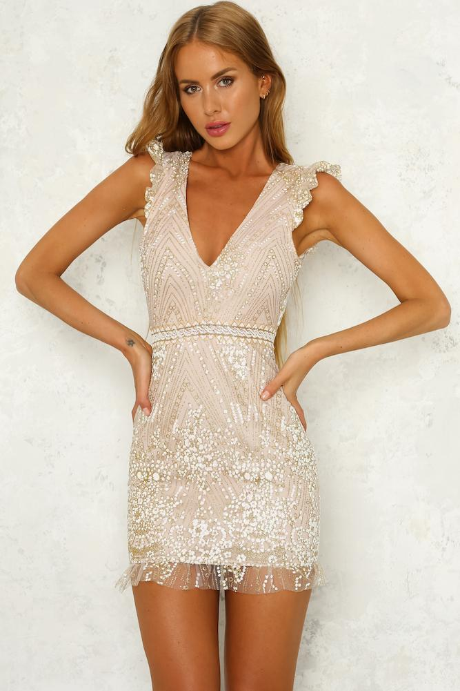 Champagne dress from Hello Molly