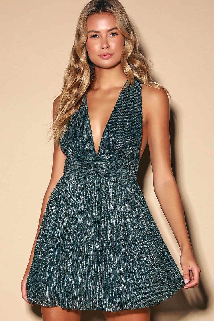 Plunge dress from Lulu's