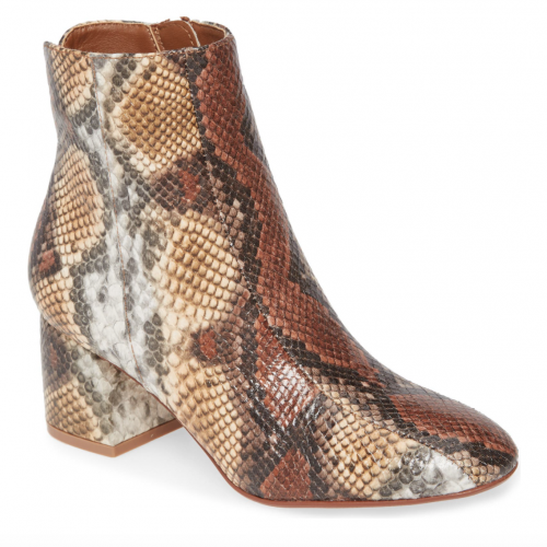 Chinese Laundry Snake Print Booties at Nordstrom
