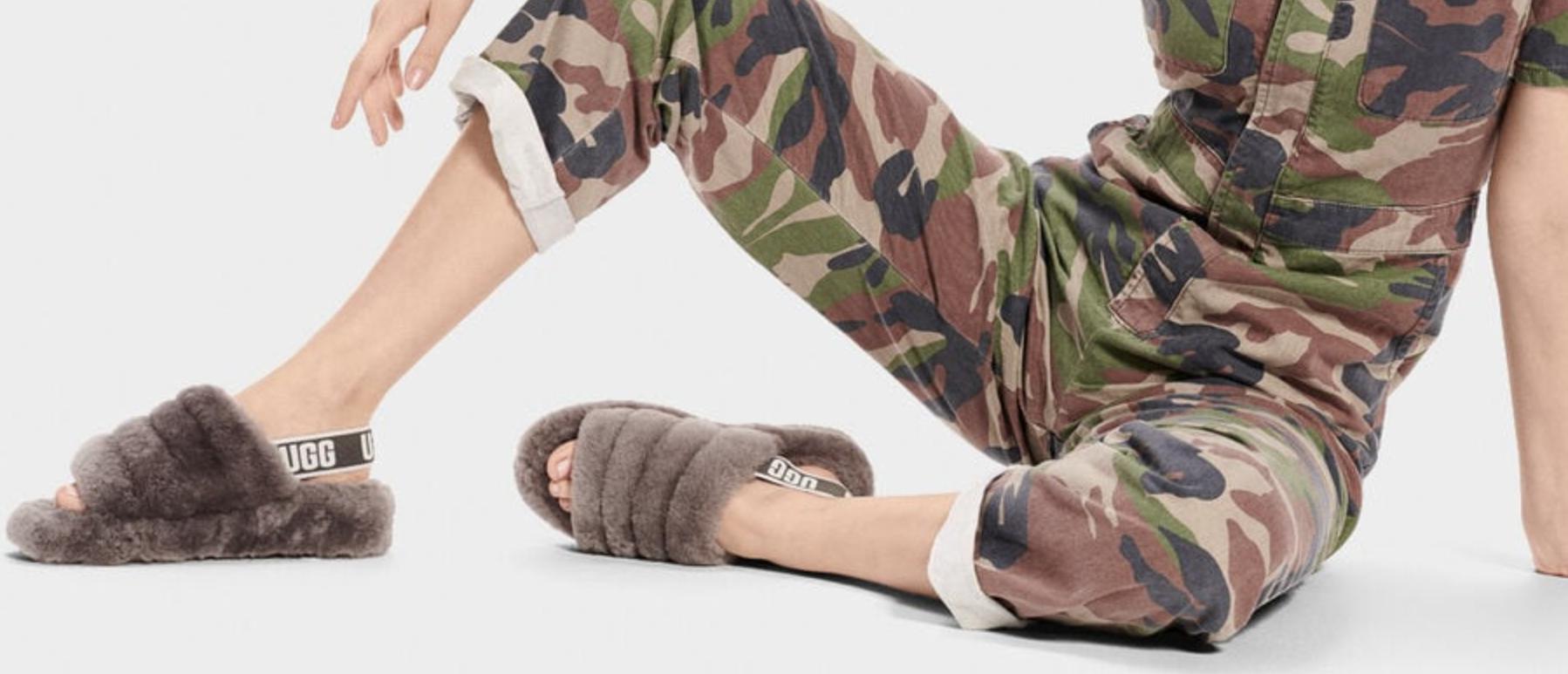 Ugg Fluff Yea Slide Slippers Gray