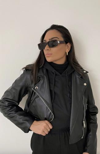 Pretty Little Thing Black Leather Biker Jacket