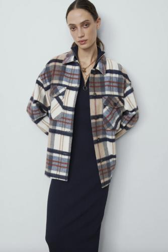 Zara Plaid Shirt Jacket