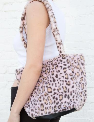 Leopard print fur bag from Brandy Melville