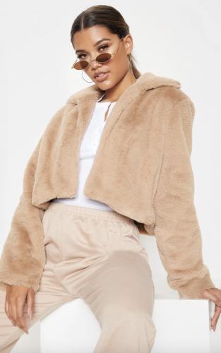 Pretty Little Thing Faux Fur Trendy Winter Coat