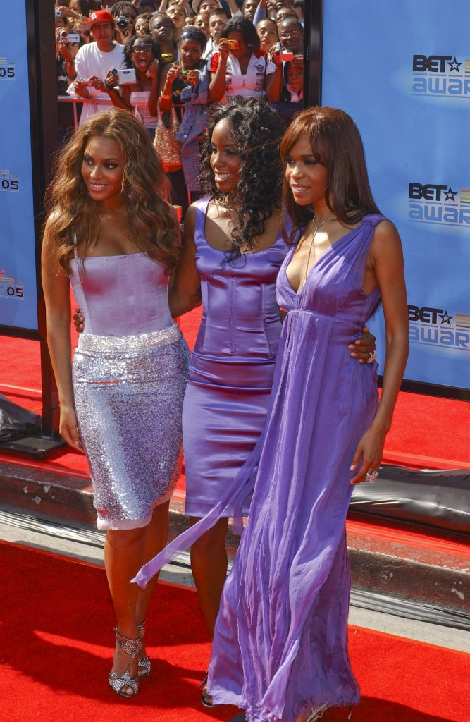 Destiny's Child at the 2005 BET Awards in purple coordinating outfits