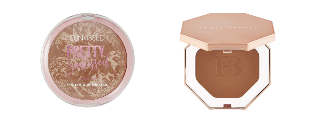 Two different types of bronzer from Sunkissed Bronzing and Fenty.