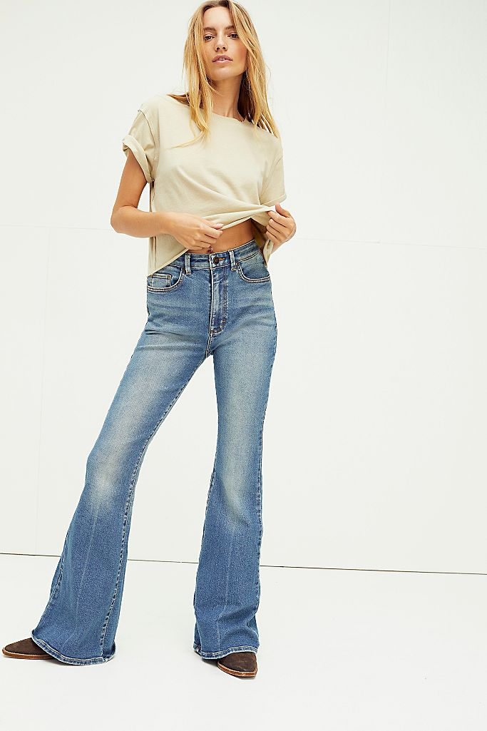 Free People high rise flares for boho style