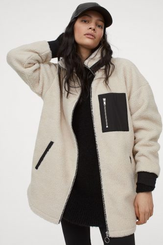 H&M Faux Shearling Jacket