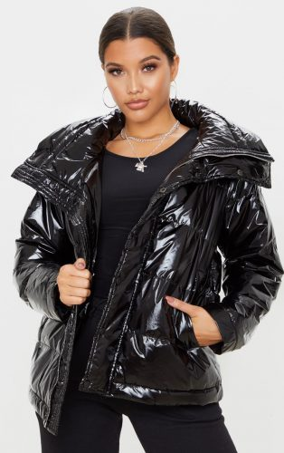 Pretty Little Thing High Shine Puffer Jacket