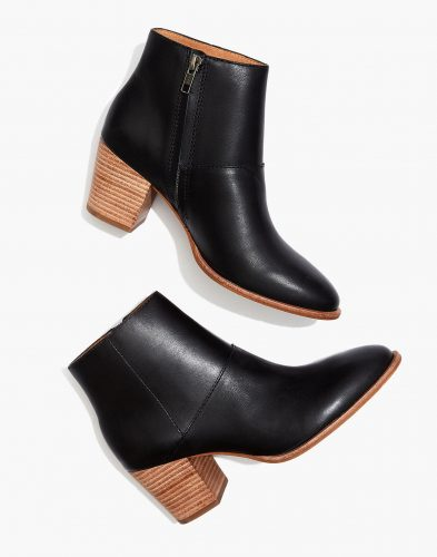 Madewell Leather Ankle Booties