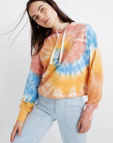Madewell Tie Dye Hoodie Sweatshirt