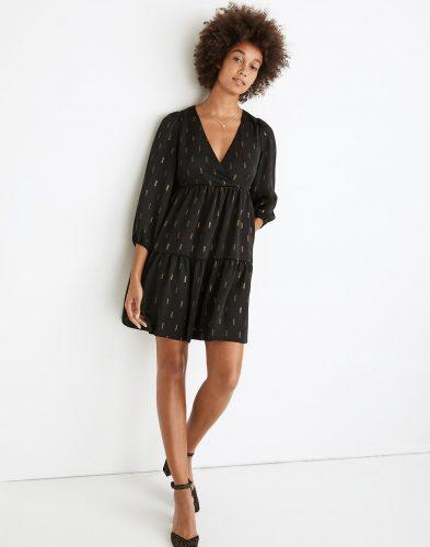 Madewell Metallic Jacquard Mini Dress
