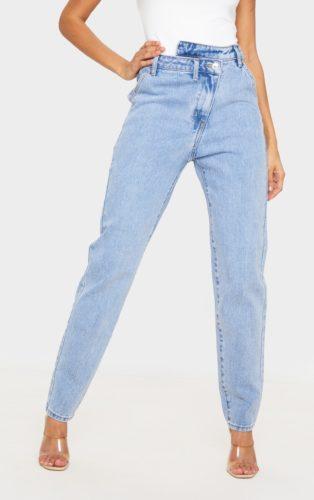 PrettyLittleThing Asymmetric Waistband Jeans