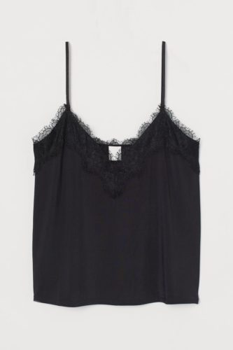 Valentine's Day clothing: H&M Lace-trimmed camisole top