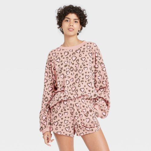 Target Leopard and Heart Print Pajama Set