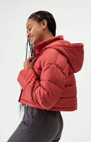 PacSun Cropped Hooded Puffer Jacket