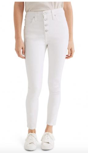 Madewell high waisted white jeans