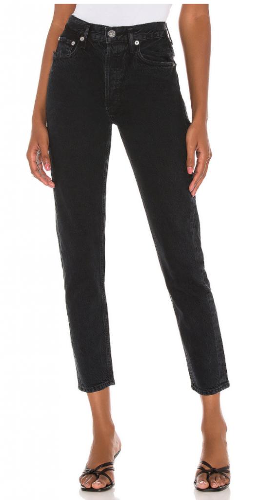 Agolde high rise black Nico jeans