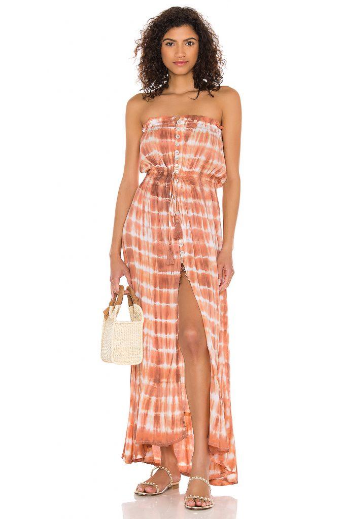 Peach maxi dress from Revolve
