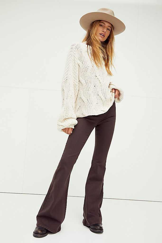 Free People flare jeans -- pull on