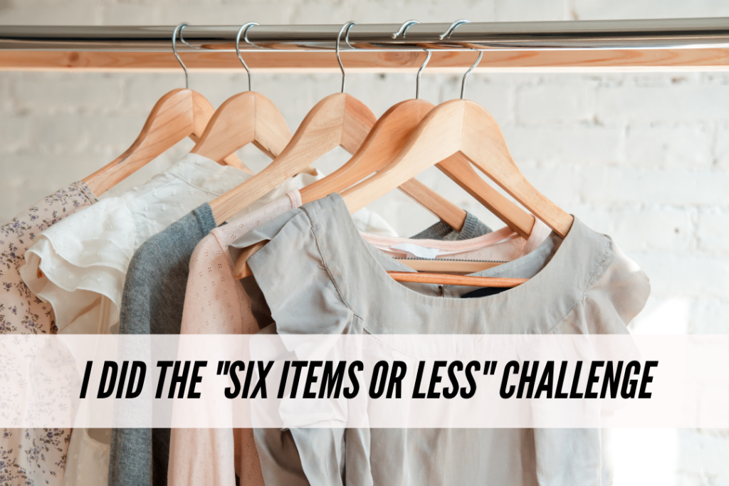 Six items or less challenge experience