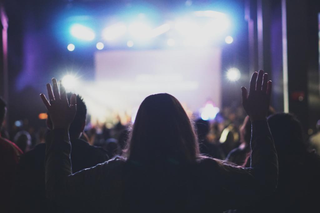 Woman at a concert