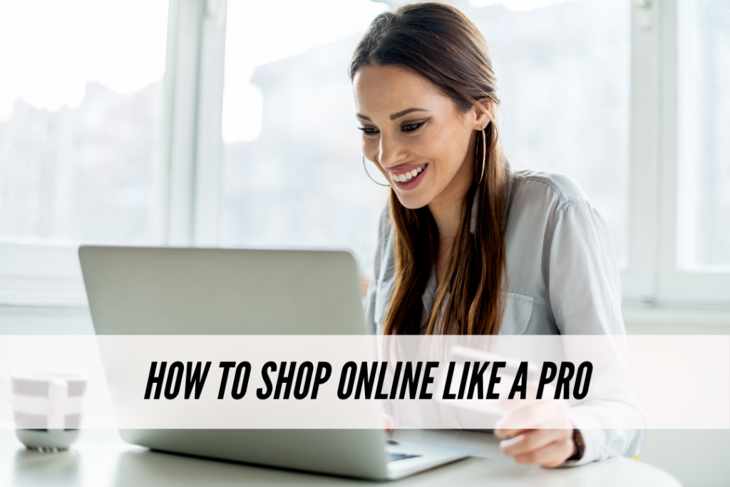 How to shop online like a pro - photo of a woman shopping online