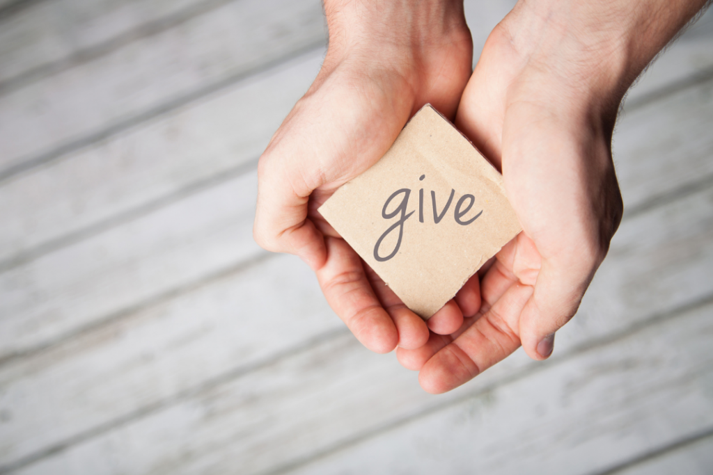 Photo of the word give
