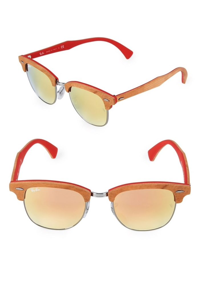 Red and orange clubmaster sunglasses