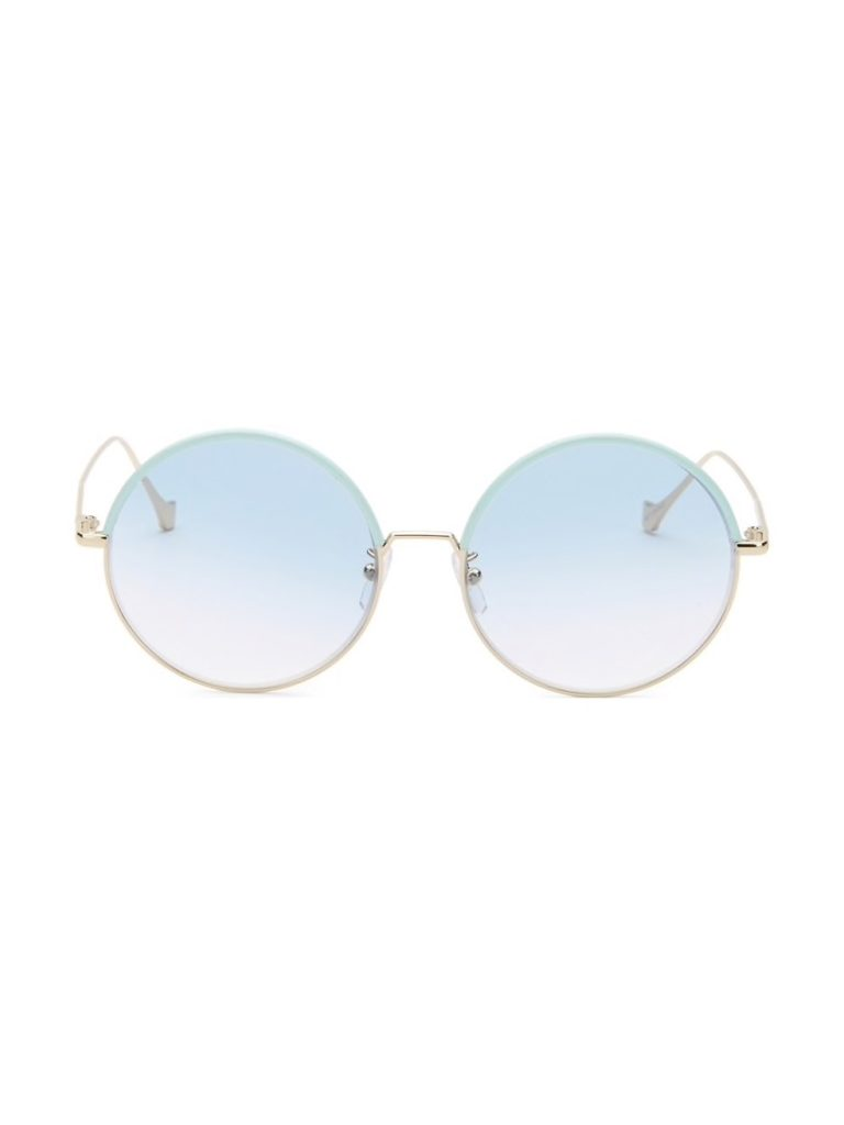 Blue sunglasses in a round shape