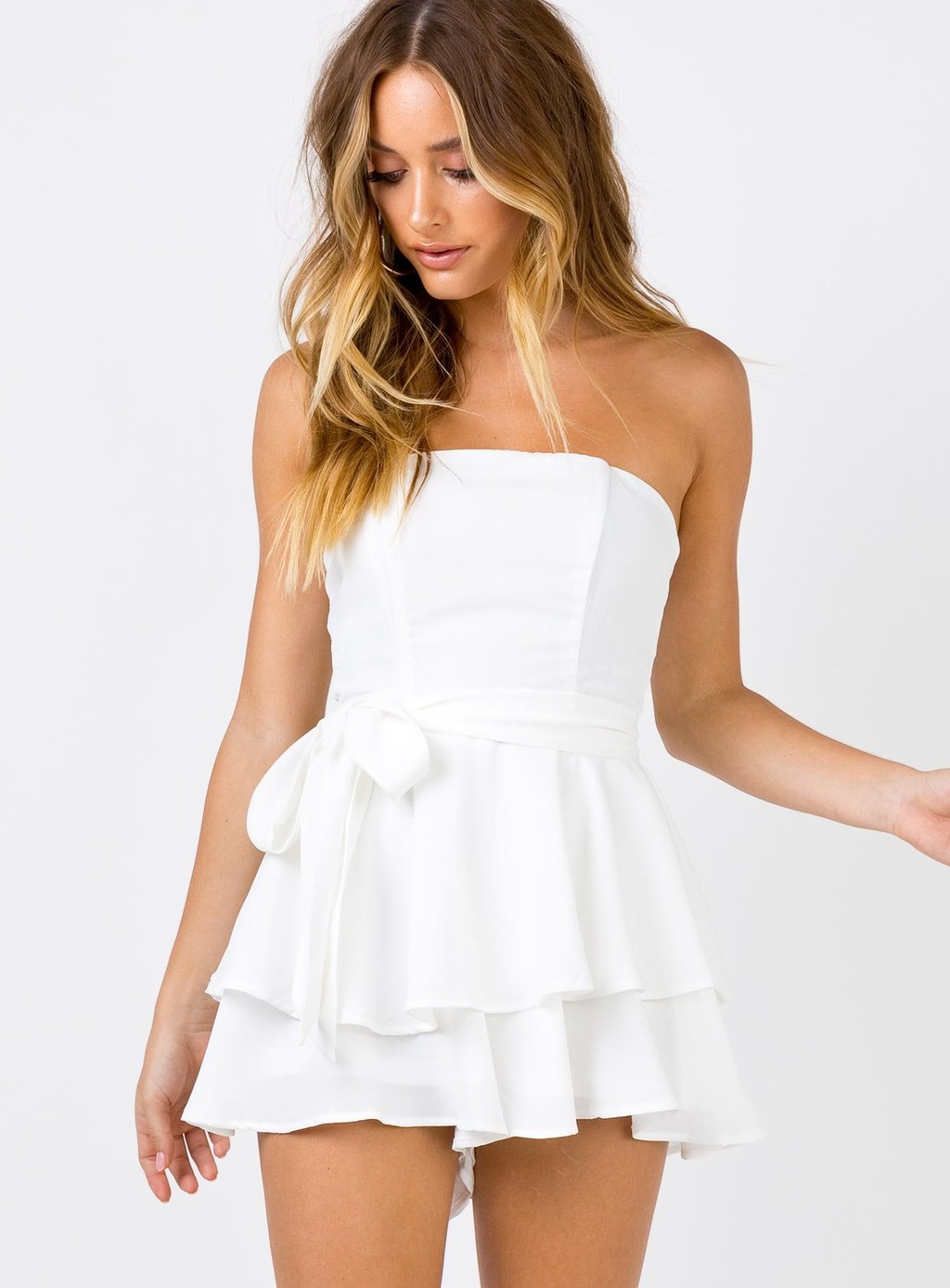 White romper from Princess Polly