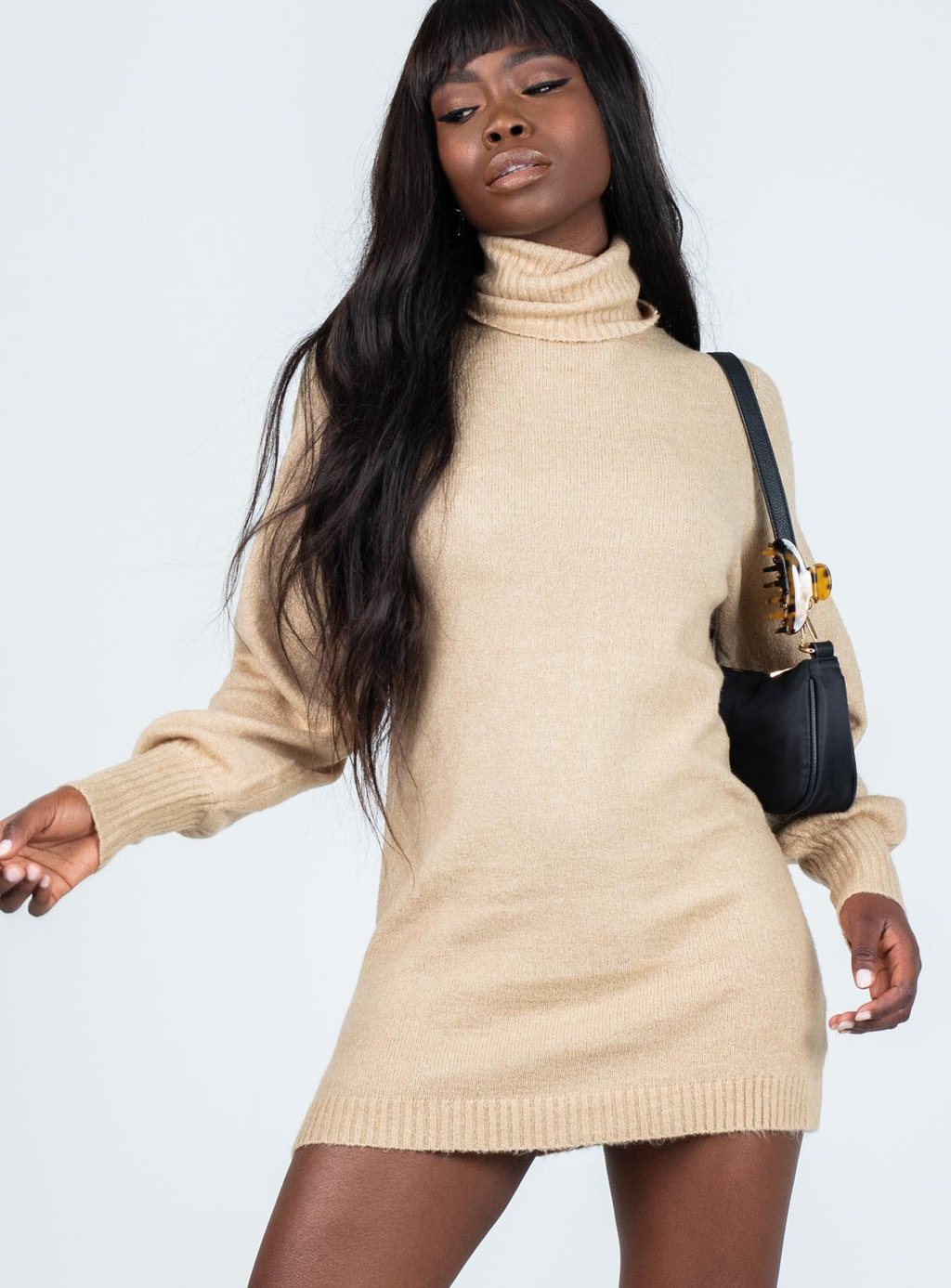 Zahara mini sweater dress from Princess Polly