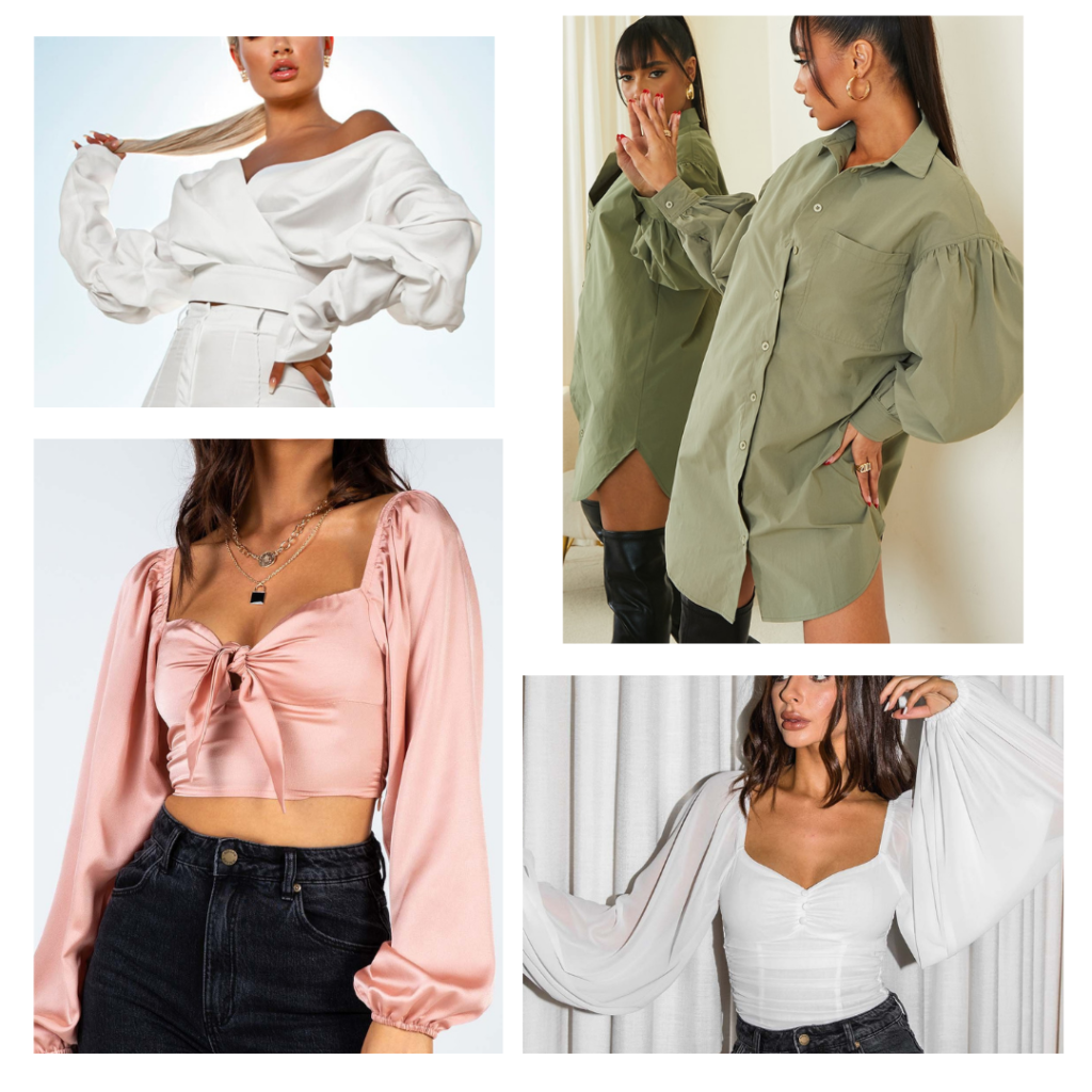 oversized puffy sleeve tops