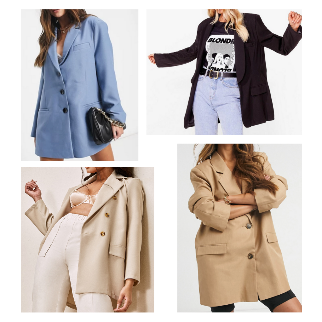 Oversized blazers with shoulder pads