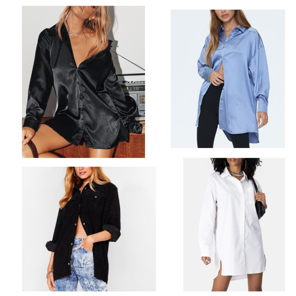 oversized button-down shirts